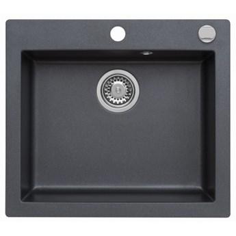 Zlewozmywak granitowy MOJITO 60 Czarny metalik (60)