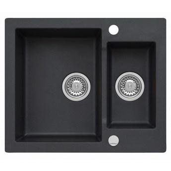 Zlewozmywak granitowy MOJITO 80 Czarny metalik (60)