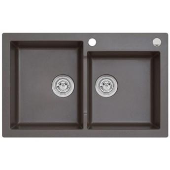 Zlewozmywak granitowy MOJITO 140 Ciemna czekolada