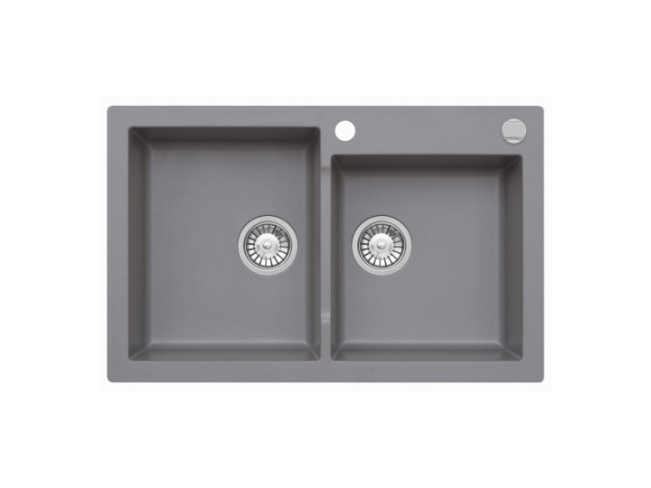 Zlewozmywak granitowy MOJITO 140 Szary metalik (50)