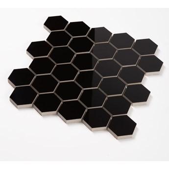 Mozaika Heksagon Czarny Połysk