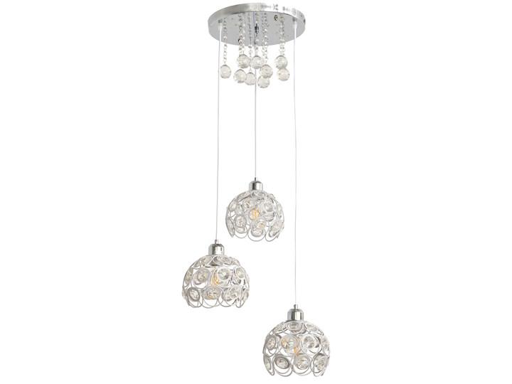 Stylowa lampa wisząca BLANCA W-HY 1104-3R-LED-WT Lampa z kryształkami Metal Stal Kryształ Lampa z kloszem Lampa LED Kolor Srebrny