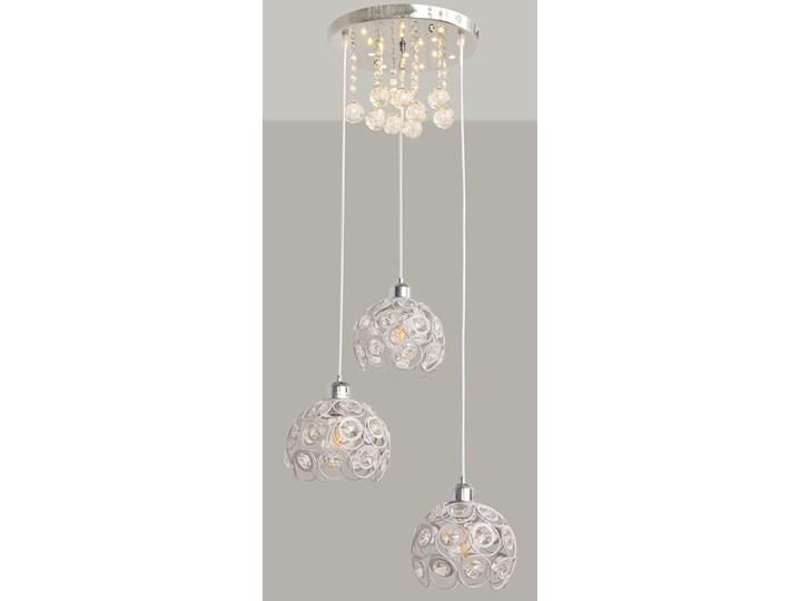 Stylowa lampa wisząca BLANCA W-HY 1104-3R-LED-WT Lampa z kloszem Metal Kryształ Lampa z kryształkami Lampa LED Stal Kolor Srebrny