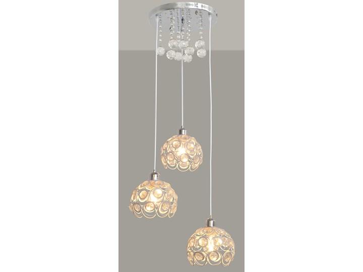 Stylowa lampa wisząca BLANCA W-HY 1104-3R-LED-WT Lampa LED Lampa z kloszem Kryształ Lampa z kryształkami Metal Stal Ilość źródeł światła 3 źródła