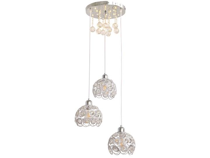 Stylowa lampa wisząca BLANCA W-HY 1104-3R-LED-WT Lampa LED Stal Lampa z kloszem Lampa z kryształkami Ilość źródeł światła 3 źródła Metal Kryształ Kategoria Lampy wiszące