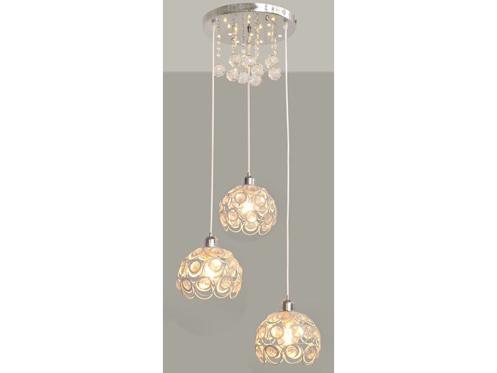 Stylowa lampa wisząca BLANCA W-HY 1104-3R-LED-WT Lampa LED Metal Kryształ Lampa z kloszem Stal Lampa z kryształkami Kolor Srebrny