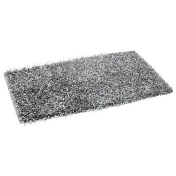 Dywanik łazienkowy GÖZZE Shaggy Metallic-Optik 1012-90-74 Srebrny