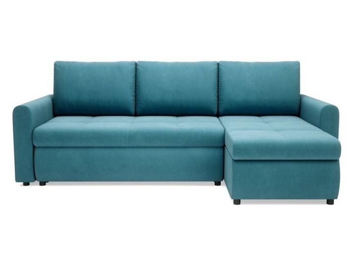 Salony Agata  Narożnik MUNA rozkładany   zielenie błękity Szerokość 226 cm Prawostronne Wysokość 85 cm Styl Klasyczny