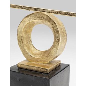 Figurka dekoracyjna Balance 45x41 cm czarno-złota