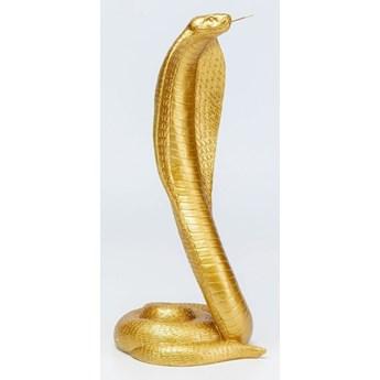 Figurka dekoracyjna Snake 17x41 cm złota