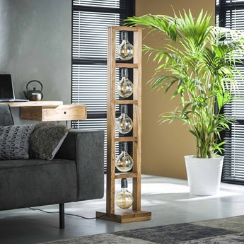 Lampa podłogowa Modulo 28x135 cm akacja