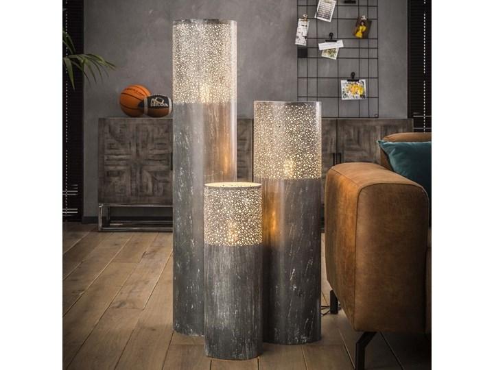 Lampa podłogowa Cylinder Ø25x90 cm szara