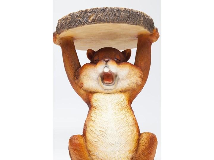 Stolik Animal Mini Squirrel Ø25x35 cm kolorowy Styl Awangardowy Kolor Brązowy