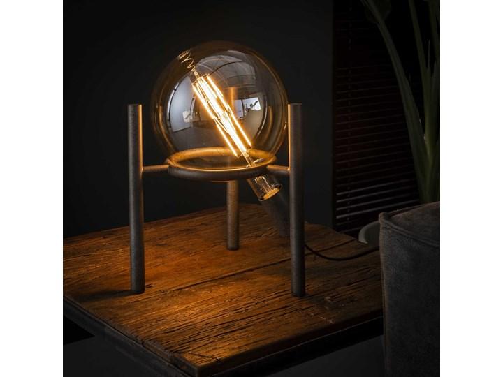 Lampa stołowa Saturn 28x34 cm srebrna Kategoria Lampy stołowe Kolor Czarny