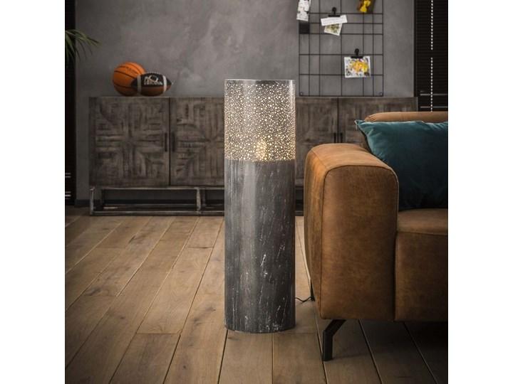 Lampa podłogowa Cylinder Ø25x90 cm szara Kategoria Lampy podłogowe Kolor Szary