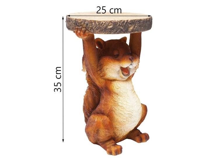 Stolik Animal Mini Squirrel Ø25x35 cm kolorowy Kolor Wielokolorowy Kształt blatu Okrągłe