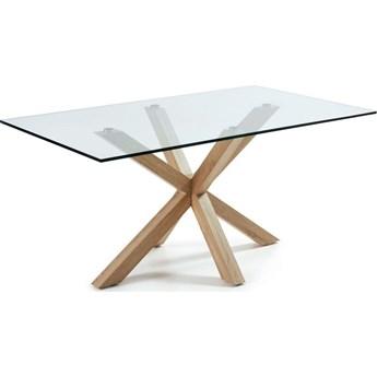 Stół Arya 160x90 cm brązowo-szklany