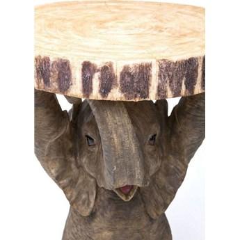 Stolik kawowy Elephant ∅36 cm brązowy