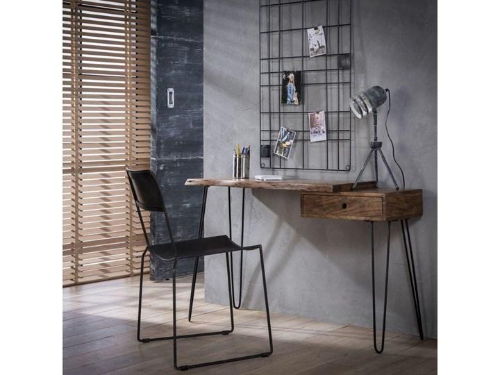 Biurko Live Edge 120x37 cm drewniane Drewno Styl Nowoczesny Szerokość 120 cm Metal Pomieszczenie Biuro