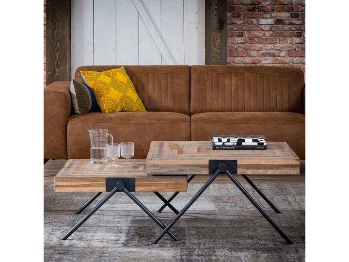 Stolik kawowy Balance 70x70cm drewniany Drewno Kształt blatu Prostokątne