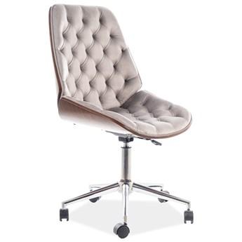 Pikowany fotel biurowy z aksamitną tkaniną Arizona Velvet