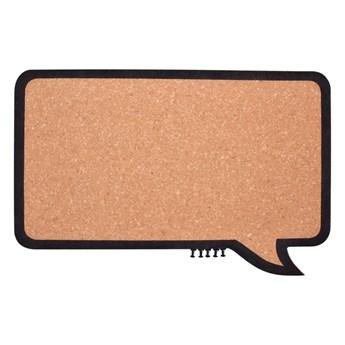 Korkowa tablica z pięcioma pinezkami GoEco® 44 x 24,5 cm