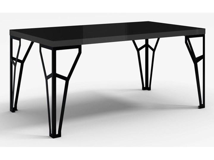 Stół z metalowymi nogami Atlas czarny połysk - Meb24.pl