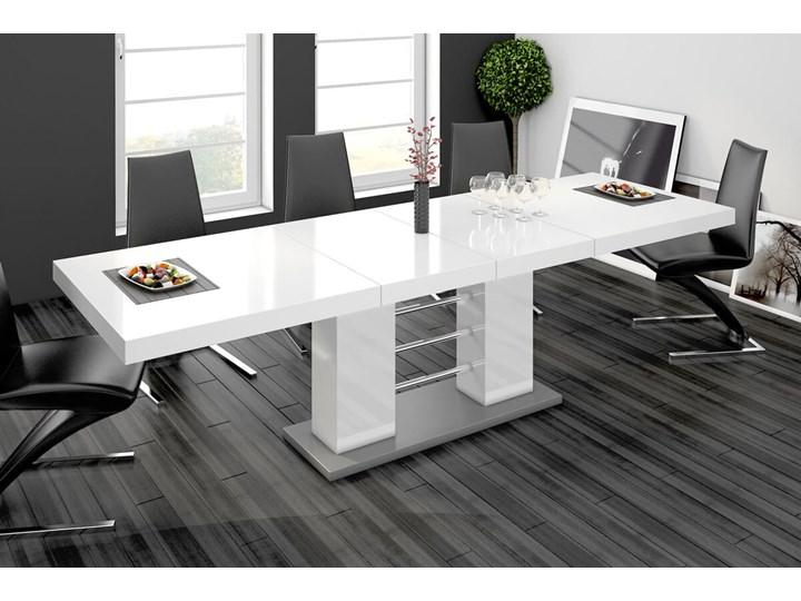 Stół rozkładany LINOSA 2 160-260 cm biały połysk - Meb24.pl
