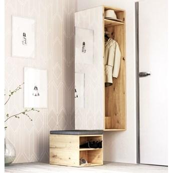 Zestaw do przedpokoju z lustrem LE CLEVER dąb artisan - Meb24.pl