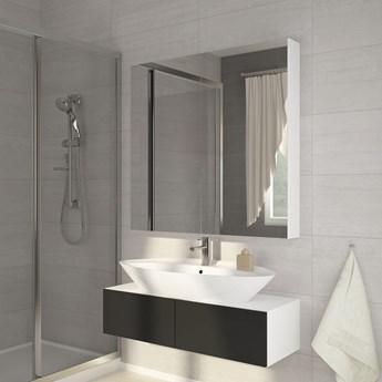 Szafka łazienkowa z lustrem Della 100 biała - Meb24.pl