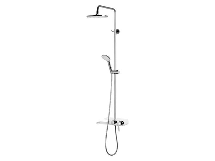 Natryskowa kolumna prysznicowa Corsan Klar Fiber CMN002 biała Kolor Biały Wyposażenie Z deszczownicą