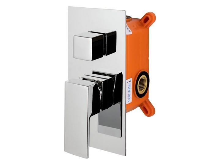 Prysznicowy zestaw podtynkowy Corsan Z01MCH chromowany Wyposażenie Z baterią Wyposażenie Z termostatem