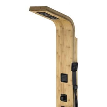 Panel prysznicowy Corsan Bao B022 bambusowy z czarnym wykończeniem