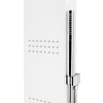 Panel prysznicowy Corsan Led Kaskada A013A biały z oświetleniem i termostatem