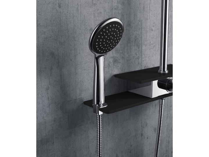 Natryskowa kolumna prysznicowa Corsan Klar Fiber CMN002 czarna Wyposażenie Z deszczownicą