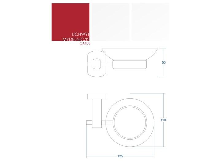 Mydelniczka łazienkowa Corsan CA103 szklana podstawka na mydło Szkło Mydelniczki Kategoria Mydelniczki i dozowniki Kolor Srebrny