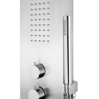 Panel prysznicowy Corsan Samsara S003 srebrny z termostatem