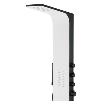 Panel prysznicowy Corsan Duo A777 biały z czarnym wykończeniem i termostatem