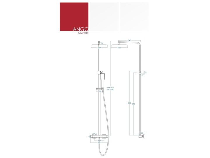 Kolumna prysznicowa Corsan Ango CMN019 Kolor Czarny