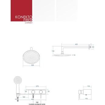 Prysznicowy zestaw podtynkowy Corsan CMN001 Konekto biały