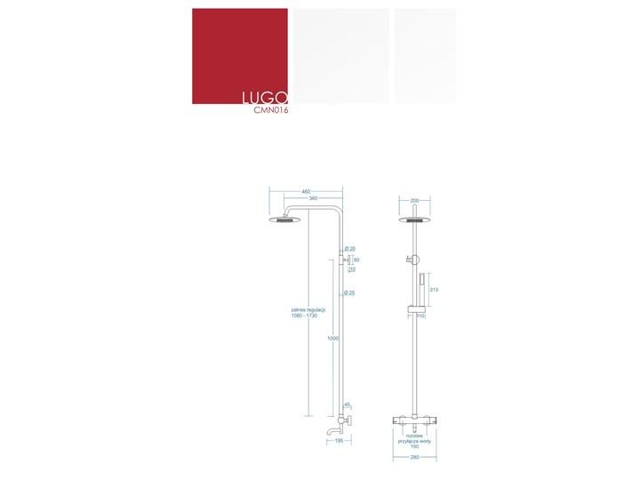 Kolumna prysznicowa Corsan Lugo CMN016 Wyposażenie Z wężem Wyposażenie Z deszczownicą