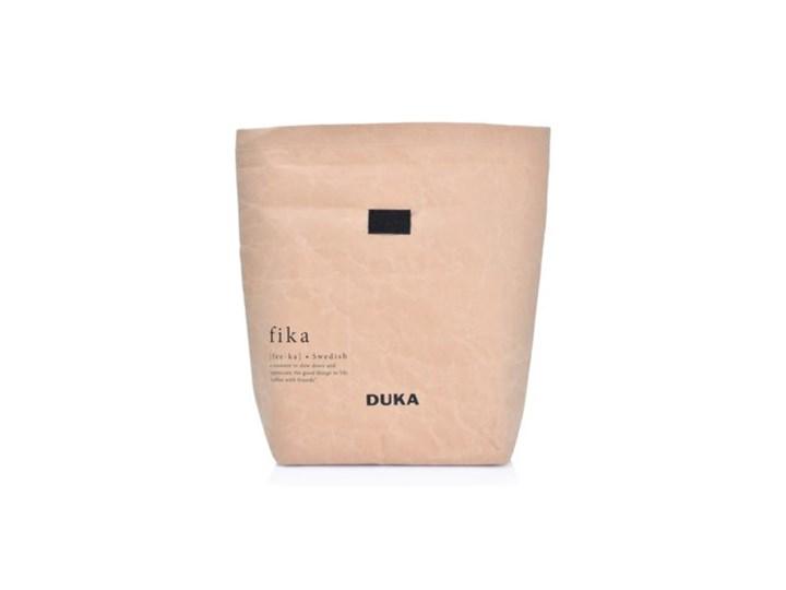 Torba termiczna śniadaniowa DUKA CRAFT 11x9x20 cm beżowa papier kraft