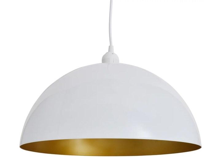 Białe regulowane lampy wiszące 2 sztuki - E985-Noris Lampa z kloszem Metal Kolor Biały Styl Nowoczesny