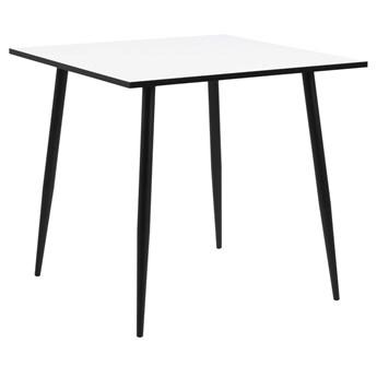 Biały stół Crystal 80x80 w stylu loftowym