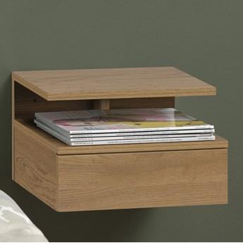 Designerska szafka nocna z półką i szufladą Colorado dziki dąb