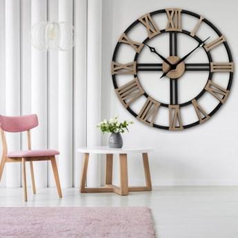 Duży zegar ścienny WOOD LOFT 80cm