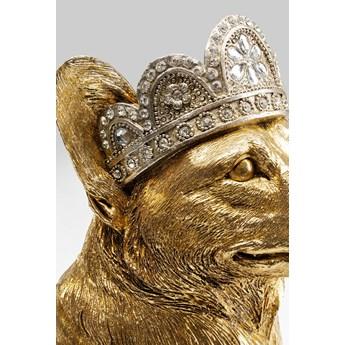 Figurka dekoracyjna Royal Sitting Corgi 45x37 cm złota