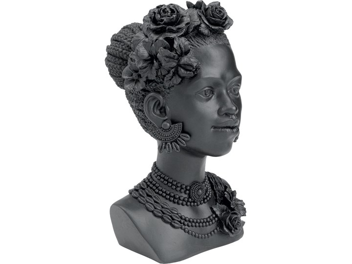 Figurka dekoracyjna Flower Lady 22x31 cm czarna Kategoria Figury i rzeźby