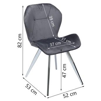 Krzesło Viva Chrome 52x82 cm szare