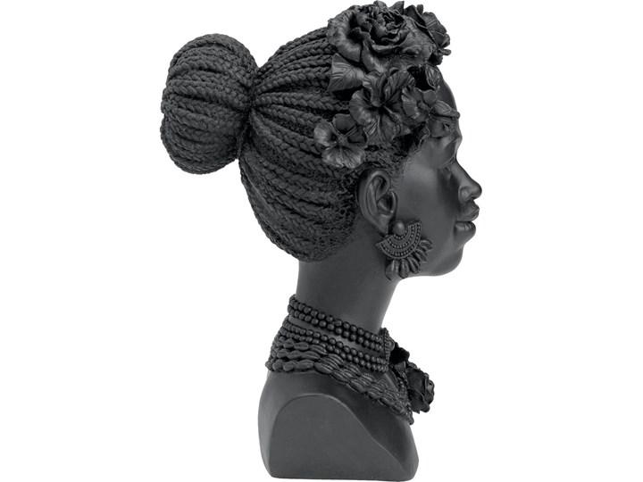 Figurka dekoracyjna Flower Lady 22x31 cm czarna Kategoria Figury i rzeźby Kolor Czarny